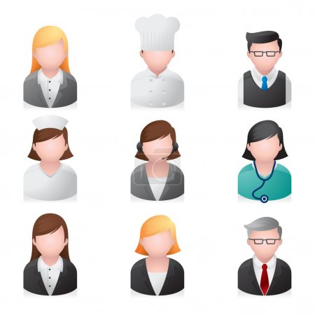 Illustration for A set of professional icons. - Royalty Free Image