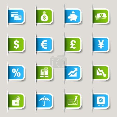 Label - Finanzsymbole