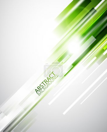 Illustration for Green straight lines abstract background - Royalty Free Image