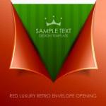 Luxury envelope opening vector background...