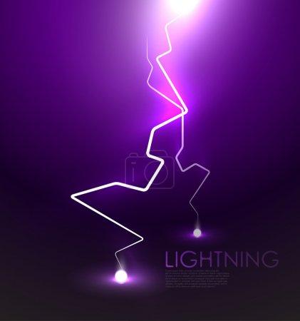 Illustration pour Lightning bolt vecteur abstrait fond - image libre de droit