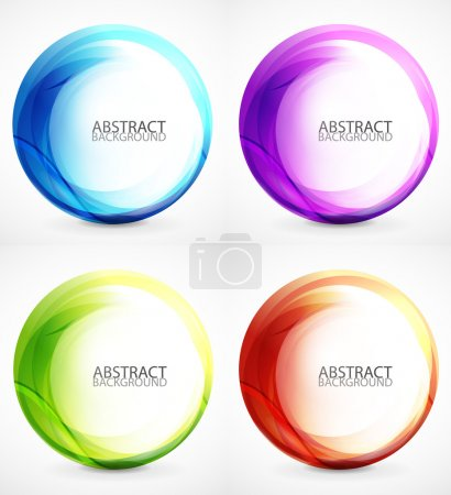 Illustration for Abstract swirl set on grey background - Royalty Free Image