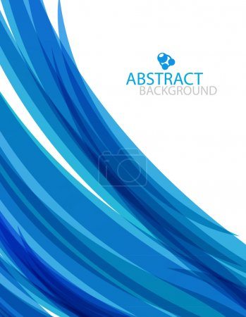 Illustration for Blue abstract vector background with flowing wave - Royalty Free Image