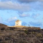 Yaiza, Lanzarote - old farm house with a cistern c...