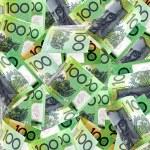 Background of Australian one hundred dollar bills....