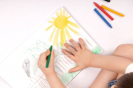 Photo for Drawing children image - Royalty Free Image