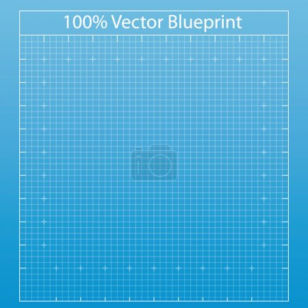 Illustration for Blueprint background texture. Vector illustration. - Royalty Free Image
