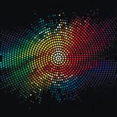 Disco světla tečky vzorek na tmavém pozadí