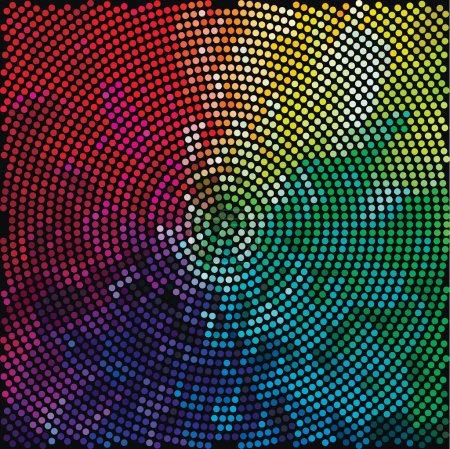 Disco light dots pattern on dark background