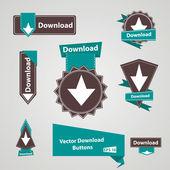Vintage download button