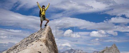 Hiker on the summit.
