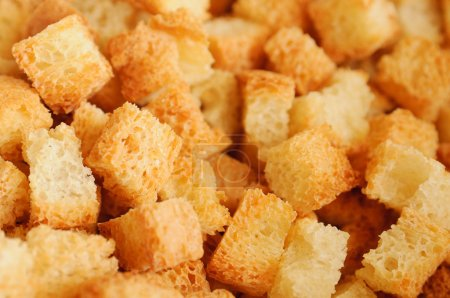 Crouton close up.