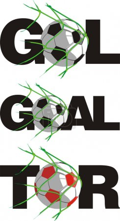 Ball in goal - in different languages