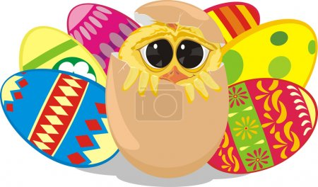 Painting eggs - happy easter