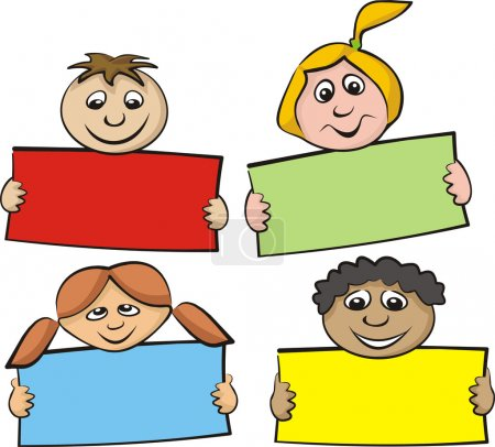Children with a piece of paper