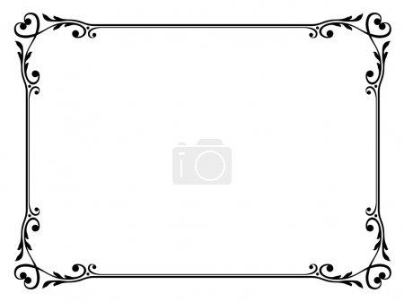 Illustration pour Calligraphie vectorielle cadre décoratif ornemental avec coeur - image libre de droit