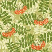 Background of red rowan seamless pattern