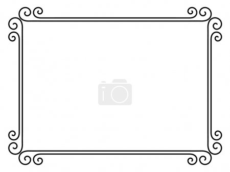Illustration for Vector simple calligraph ornamental decorative frame pattern - Royalty Free Image