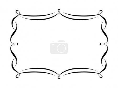 Illustration for Vector calligraphy penmanship ornamental deco frame pattern - Royalty Free Image