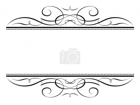 Illustration for Vector calligraphy vignette ornamental penmanship decorative frame - Royalty Free Image