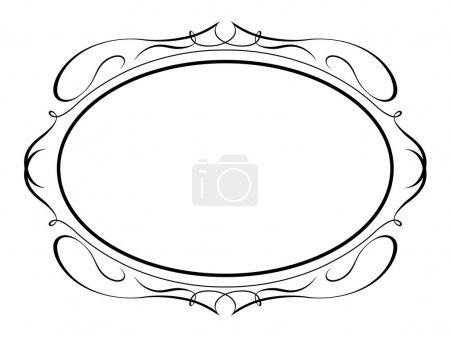 Calligraphy ornamental penmanship decorative frame