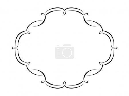 Illustration pour Calligraphie vectorielle exécution décor ornemental cadre modèle - image libre de droit