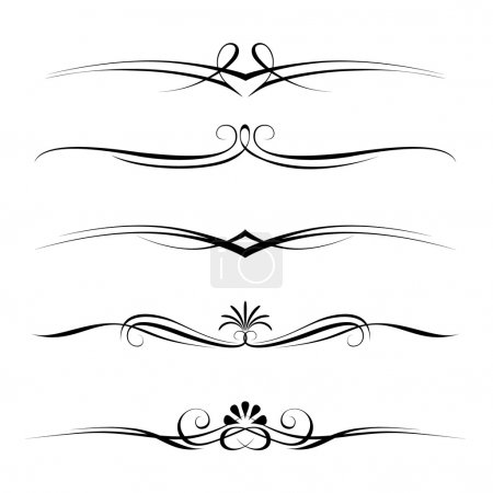 Illustration for Vector set of decorative elements, border and page rules frame - Royalty Free Image