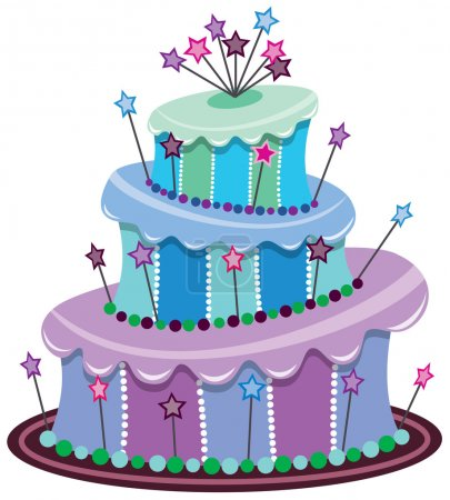 Illustration pour Vecteur grand gâteau d'anniversaire - image libre de droit