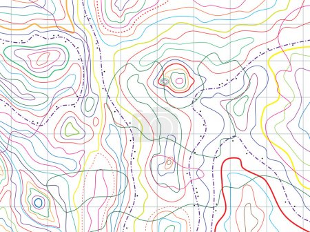 Vector abstract topographical map