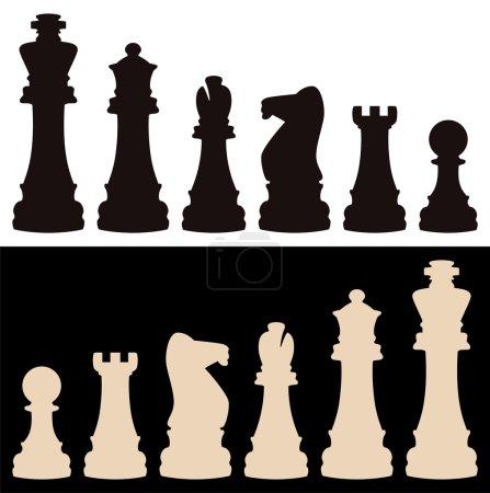 Vector chess pieces