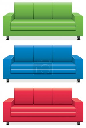 Vector colorful sofas