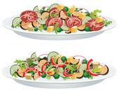 Vector vegetable salads