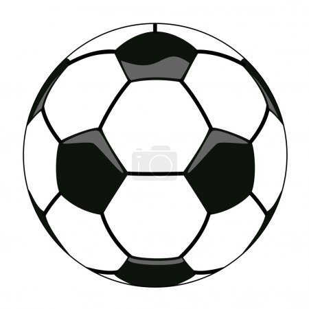Vector soccer ball clipart