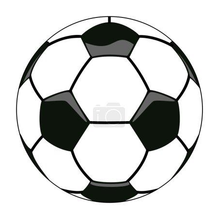 Illustration for Vector illustration of soccer ball clipart - Royalty Free Image