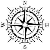 Vector black compass