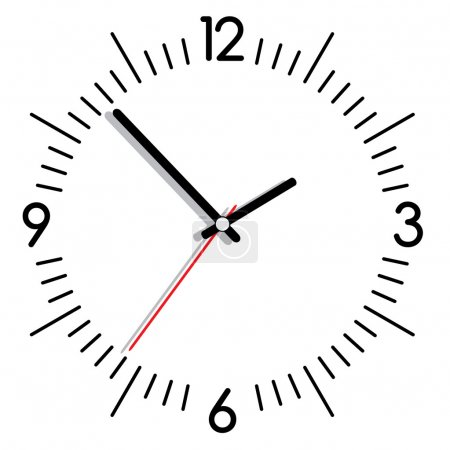 Illustration for Vector illustration of a clock - Royalty Free Image