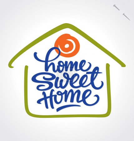 Illustration pour 'Home sweet home' main lettré conception - calligraphie à la main; illustration vectorielle (eps8); - image libre de droit