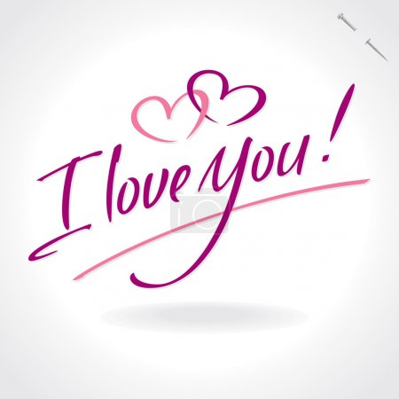 'I Love You' hand lettering (vector)