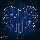 Deska s srdce tvar vzorku