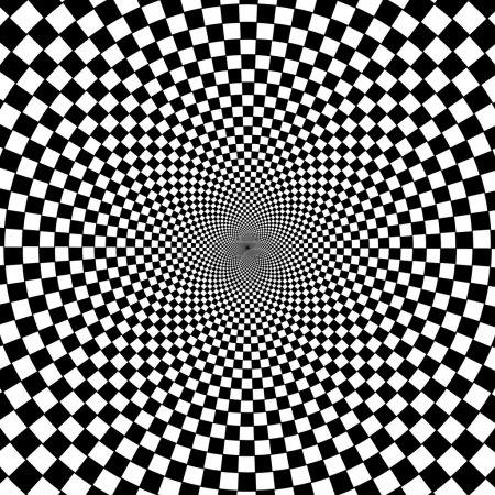 schwarz-weißer hypnotischer Hintergrund.