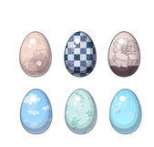 Vector Illustrations of Easter Eggs Set