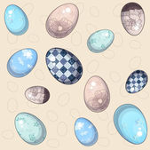 Vector Illustration of Eastern Eggs Background