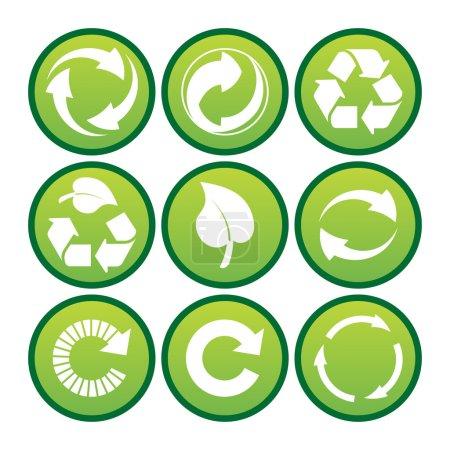 Environmental recycling icons