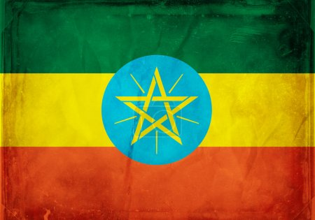 Grunge flag series - Ethiopia...