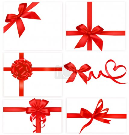 Illustration for Big collection of color gift bows with ribbons Vector - Royalty Free Image
