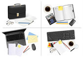 Big set of business and office supplies Vector