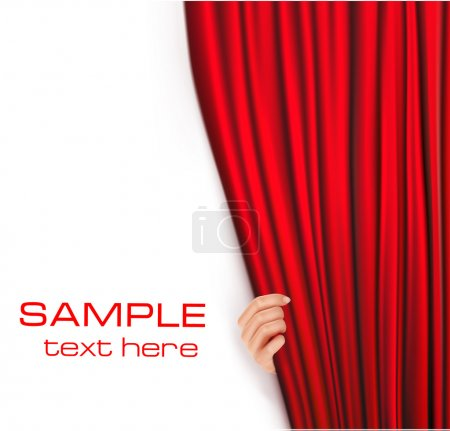 Illustration for Backgrounds with red velvet curtain. Vector illustrationv - Royalty Free Image