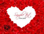 Krásné srdce z červených růží. vektor