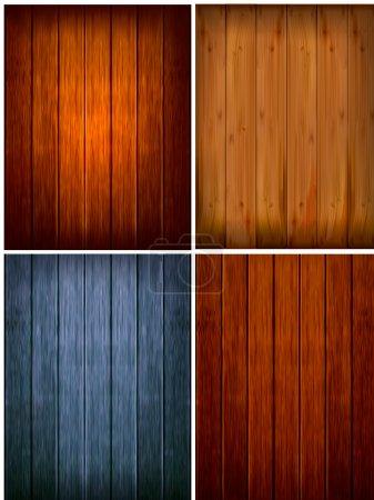 Set of wood backgrounds. Vector illustration