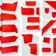 Huge set of red origami paper banners and stickers...